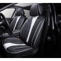 Мультимодельные авточехлы AUTOPREMIER ARISTO, черный/белый, эко кожа, SRS AIRBAG, карман, 10 мм поролон, 15 предметов, 1/2, ARS2