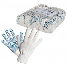 Перчатки ХБ с ПВХ покрытием, белые, (1 пара), 42гр., 150Т/7,5 класс AWG-C-02
