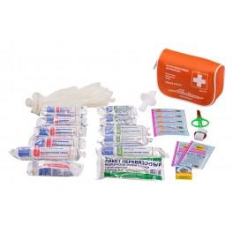 Аптечка автомобильная в текстильном футляре (Соответствует требованиям ГИБДД) AM-01