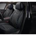 Мультимодельные авточехлы AUTOPREMIER IMPERIAL, черный, кожа, карман, 10 мм п-н, 15 пр RIA1040