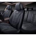 Мультимодельные авточехлы  AUTOPREMIER DELUXE, черный/серый, эко кожа, карман, DEL1040