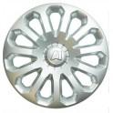 Колпаки декоративные 14  А-1 серебристый (пруж.)  (2) (8) AK1401