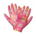 Перчатки нейлоновые женские с цельным полиуретановым покрытием ладони (AWG-NW-09) AWG-NW-09
