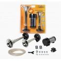Сигнал звуковой пневматический 160/210мм 600/756Гц 115дБ 12В LOW/HIGH комплект с компрессором (AHR-12C-04) AHR-12C-04