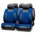 Авточехлы PREMIER PLATINUM VIP, черный/синий, эко кожа, SRS AIRBAG, карман, 5 мм поролон, 6 молний, PIV1100