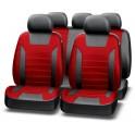 Авточехлы PREMIER PLATINUM VIP, чёрный/красный, эко кожа, SRS AIRBAG, карман, 5 мм поролон, 6 молни PIV1200