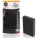 """Ароматизатор под сиденье пластик """"3D-лабиринт"""" черный лед AFSI105"""