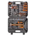 Набор инструментов универсальный 59 предметов, серый пласт.кейс (AT-59-39) AT-59-39