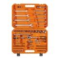 Набор инструментов универсальный 82 предметов + фонарь, пласт.кейс (AT-82-41) AT-82-41