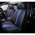 Мультимодельные авточехлы AUTOPREMIER ARISTO, черный/синий, эко кожа, SRS AIRBAG, карман, 10 мм поролон, 15 предметов, 1/2, ARS1