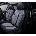 Мультимодельные авточехлы AUTOPREMIER ROYAL, черный/серый, эко кожа, SRS AIRBAG, карман, 10 мм поролон, 15 предметов, 1/2, ROY14