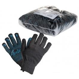 Перчатки ХБ с ПВХ покрытием, черные, (1 пара), 40гр., 140Т/7,5 класс AWG-C-04