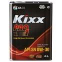 Высокоэффективное синтетическое масло  / KIXX PAO 1 0W-30 SN 4L жесть L208144TE1/2