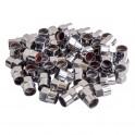 Колпачки на шинный вентиль, шестигранные, пластик, цвет хром (60 шт.)(AVC-60-03) AVC-60-03