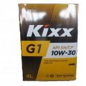 Масло для бензиновых двигателей Kixx  G1 10W30  SN/CF ( 4л.) (уп.4 шт.) SemiSyn