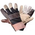 Перчатки кожаные, комбинированные (защитные от механических повреждений)(AWG-S-13) AWG-S-13