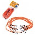 Набор резинок 6 шт.:  2 шт.-60см, 2шт.-80см, 2шт-100см, D-8 мм, (металлические крючки) AS-R-04